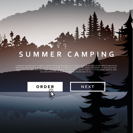 national park: Summer landscape of nature. Nature and landscape. Landscape mountain  forest and lake. Advertising background travel and camping. Mountain forests and rivers.  National Park. Background  gaming .
