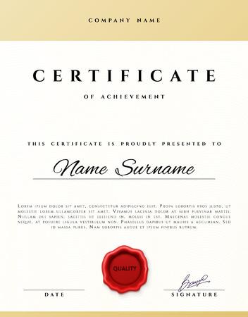 stock certificate: Certificate design.  Certificate border.  Certificate frame. Certificate and diploma. Certificate of achievement. Premium present certificate. Guilloche certificate