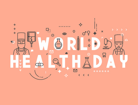 psychiatrist: Medicine concept World health day. Creative design elements for websites, mobile apps and printed materials. Medicine banner design