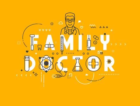 Concept van de geneeskunde familie. Creatief ontwerp elementen voor websites, mobiele apps en drukwerk. Medicine banner ontwerp