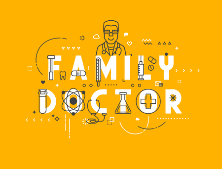medics: Medicine concept family. Creative design elements for websites, mobile apps and printed materials. Medicine banner design