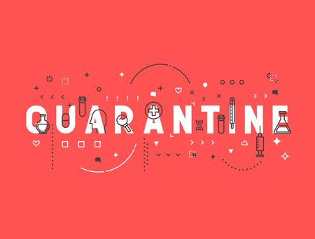 Medicine concept de quarantaine. éléments de conception Creative pour les sites Web, des applications mobiles et des documents imprimés. conception médecine bannière