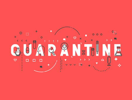 quarantine: Medicine concept quarantine. Creative design elements for websites, mobile apps and printed materials. Medicine banner design