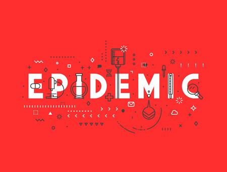 cdc: Medicine concept Epidemic. Creative design elements for websites, mobile apps and printed materials. Medicine banner design