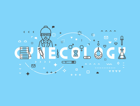 gynecology: Medicine concept gynecology. Creative design elements for websites, mobile apps and printed materials. Medicine banner design