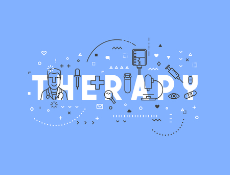 regeneration: Medicine concept design Therapy. Creative design elements for websites, mobile apps and printed materials. Medicine banner design