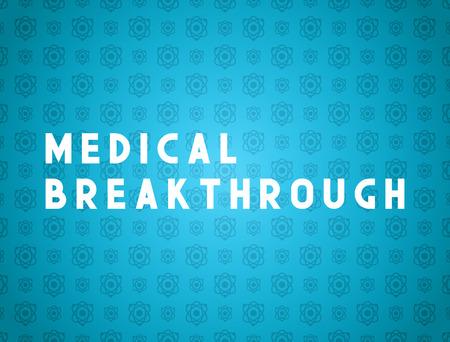 breakthrough: Medicine concept medical breakthrough. Creative design elements for websites, mobile apps and printed materials. Medicine banner design