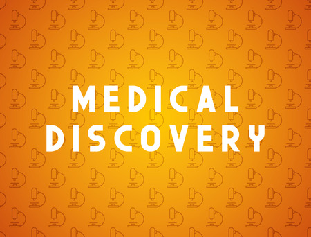 lab technician: Medicine concept medical discovery. Creative design elements for websites, mobile apps and printed materials. Medicine banner design