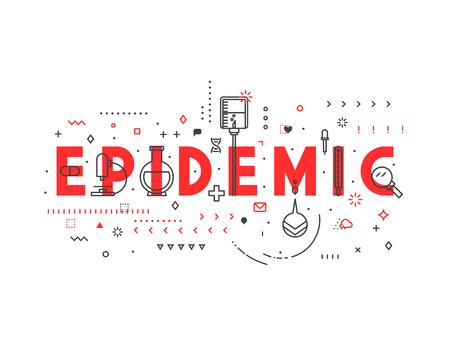 Medicine concept Epidemic. Creative design elements for websites, mobile apps and printed materials. Medicine banner design