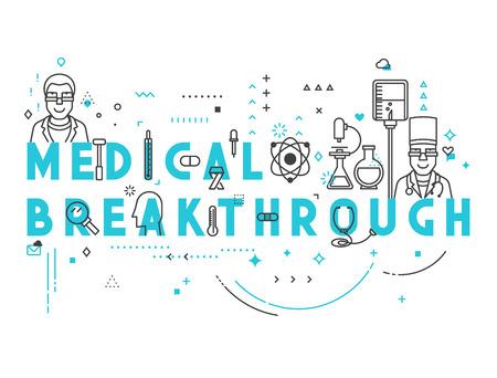 breakthrough: Medicine concept breakthrough. Creative design elements for websites, mobile apps and printed materials. Medicine banner design Illustration