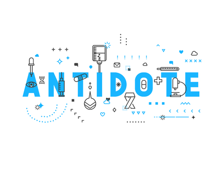antidote: Medicine concept antidote. Creative design elements for websites, mobile apps and printed materials. Medicine banner design Illustration