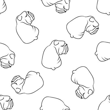 Englisch Bulldog Muster nahtlos. Hundemuster nahtlos