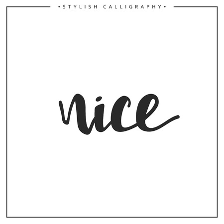 an elite: Nice phrase in handmade. Nice. Stylish, modern calligraphy. Elite calligraphy. Quote with swirls. Search for the design of brochures, posters, banners, web design.