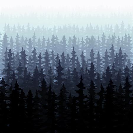 cedar: bosque cubo pino abeto paisaje. pinos del bosque natural