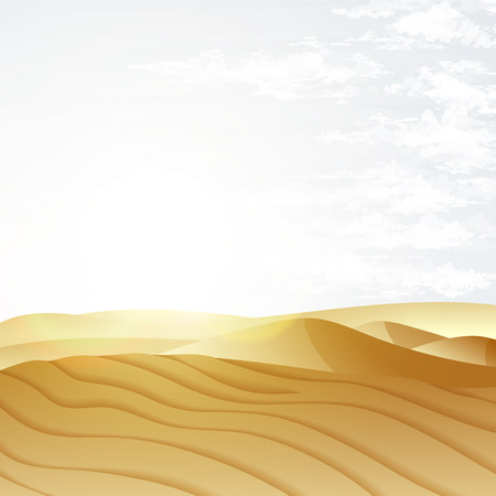 kalahari desert: Desert landscape with blue sky. Dunes background. Landscape nature sand desert with dunes