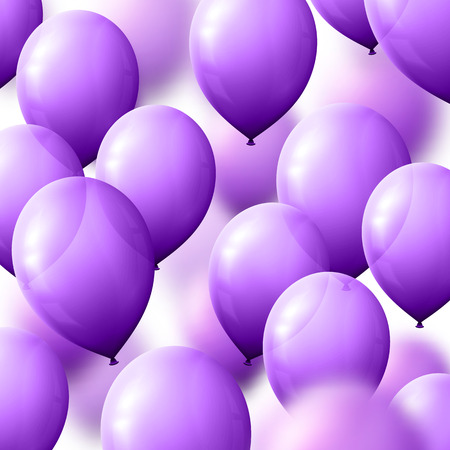 beam with joy: Background with balloons for greeting cards. Realistic balloons lilac