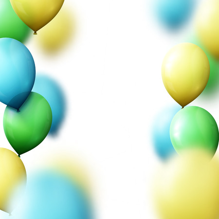 beam with joy: Background with balloons for greeting cards. Realistic balloons gray