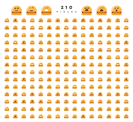 compassion: Great set of 224 emotions isolated on white background. Characters smile Emoji for Web. Anger and compassion. Laughter, tears. Smile sadness surprise. Happiness fear.