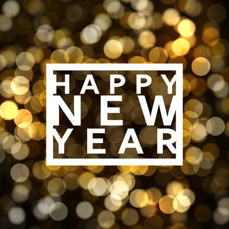 Happy new year card. Banner Buon Natale. manifesto di Natale con le palle. Biglietto di auguri design illustrazione vettoriale Archivio Fotografico - 63320187