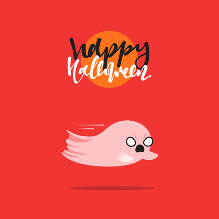 mythical: Halloween, funny cartoon characters ghost. Doodle cute characters for holiday happy Halloween. Icons mythical creatures. Isolated vector illustration