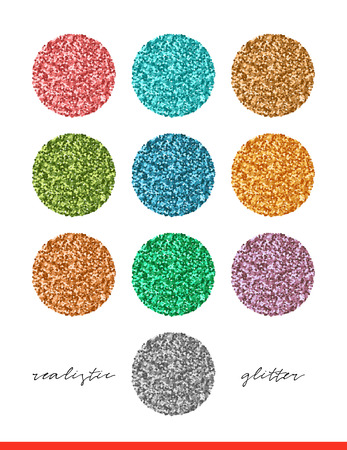 Glitter set of colorful texture for design elements. Glitters bright background Illustration