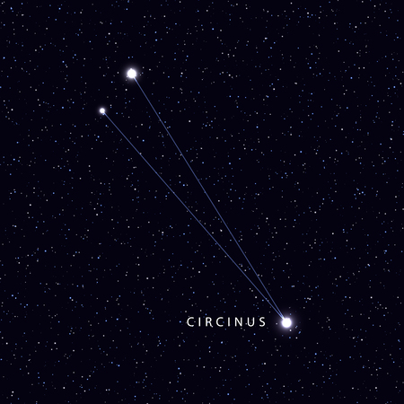 costellazioni: Sky Map with the name of the stars and constellations. Astronomical symbol constellation Circinus