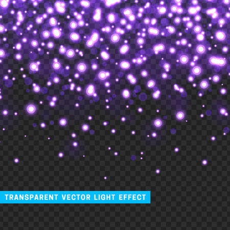 Vector with transparency light effect sparkle. Glitter background bright Christmas lights. Colourful Glowing Christmas Lights. Shining vector illustration Illustration