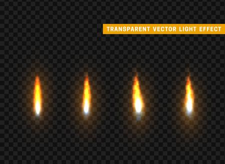 dangerous: Fire flames set isolated realistic. Background transparent vectors effect Illustration