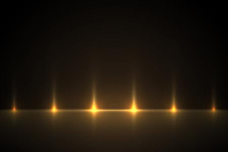 Light golden effect background for design. Light illustration backlit scenes.