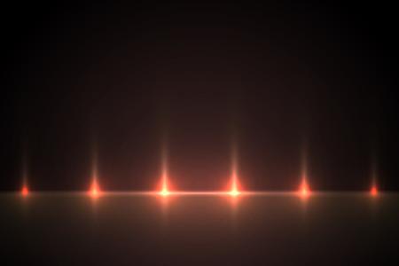 Light red effect background for design. Light illustration backlit scenes. Vettoriali