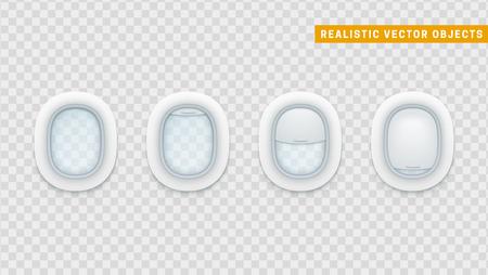 Portholes of airplane. Illustration