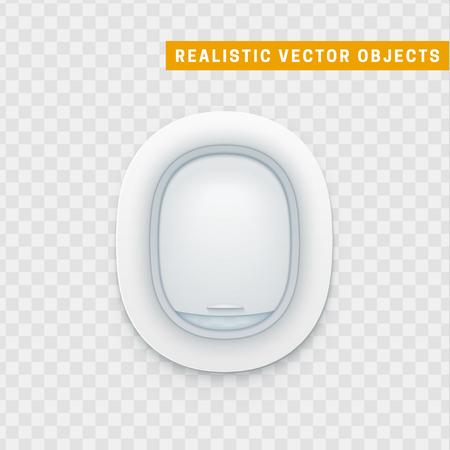 Realistic portholes of airplane Illustration