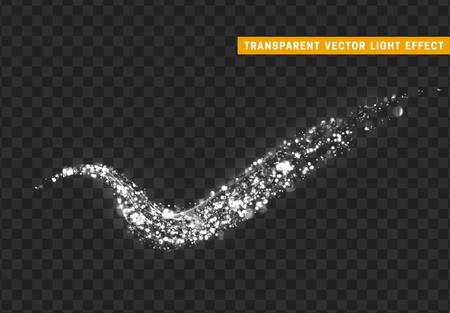 Magic light effect sparkle stardust white glitter illustration. Illustration
