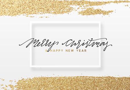 Natale e Capodanno sfondo di lusso. biglietto di auguri di Natale
