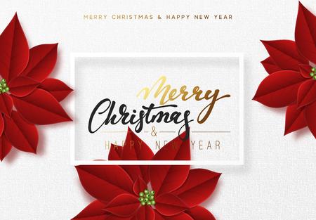 クリスマスグリーティングカードのデザイン。  イラスト・ベクター素材