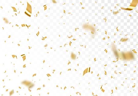 Falling shiny golden confetti.