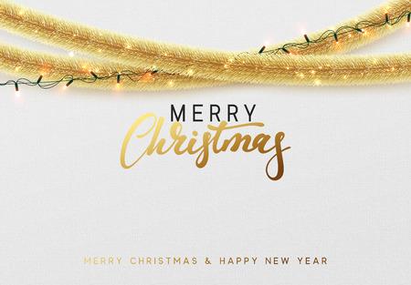 Conception de carte de Noël rougeoyant. Banque d'images - 89311746