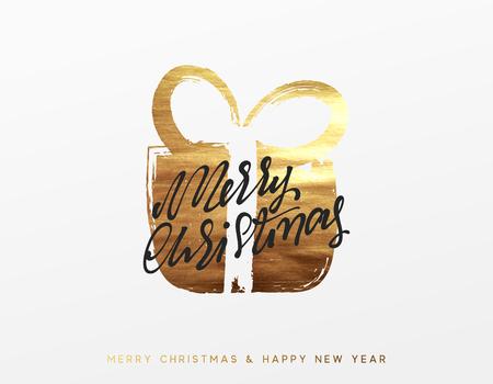 Gouden kerstgroet, Golden Xmas verrassing geschenkdoos.