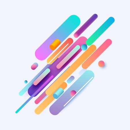 Modern design abstract illustration. Color trend elements.