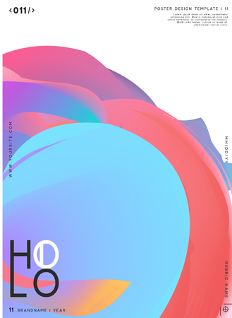 Modern abstract pattern, colorful fluid paint design. Trendy art background. Gradient futuristic shapes. Brochure label, poster, banner vector illustration.