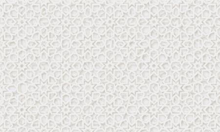 Sfondo modello arabo. Vettore di ornamento islamico. Forma geometrica 3d. Motivo tradizionale arabo di trama