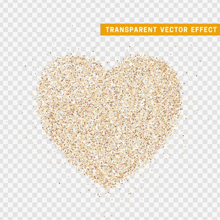 Valentines Day heart isolated, transparent vector effect background. Festive decorations bright glitter placer. Holiday love decor illustration. Beautiful design element Stock Illustration - 109432489