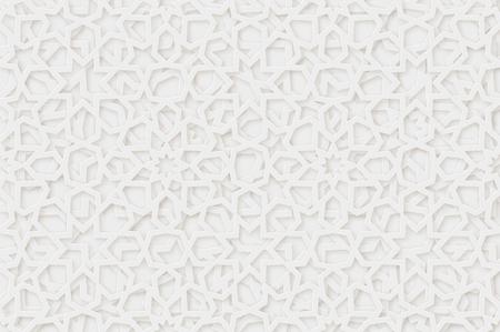 阿拉伯语模式的背景。伊斯兰装饰向量。3 d几何形状。纹理阿拉伯传统图案