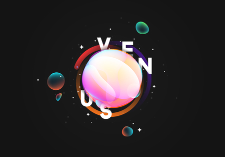 Futuristic background, planet shape. Bright neon liquid gradient.