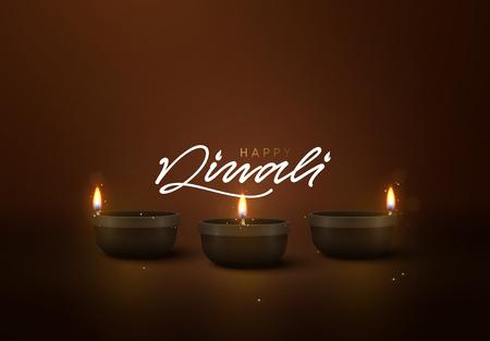 Celebrate Diwali festival of lights. Holiday background Hindu Diwali or Deepavali.