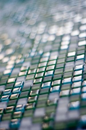 Green glass squares Stock Photo - 5324011