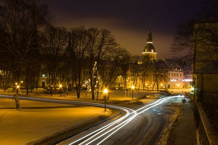 Christmas Riga at night photo