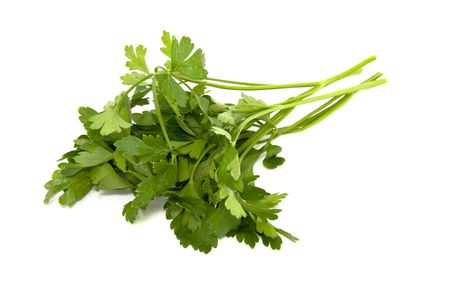 Green parsley isolated on white photo