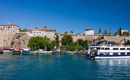Boats in the Antalyas marina, Turkey  photo