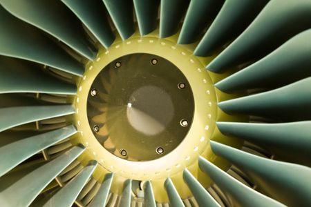 Large jet engine turbine blades Stock Photo - 6029998